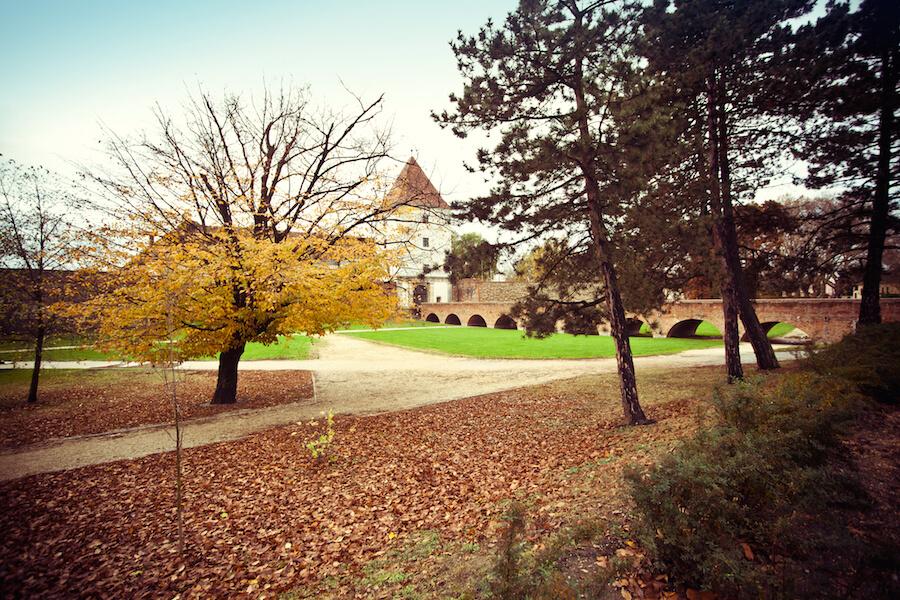 Sárvár Nádasdy-vár ősszel