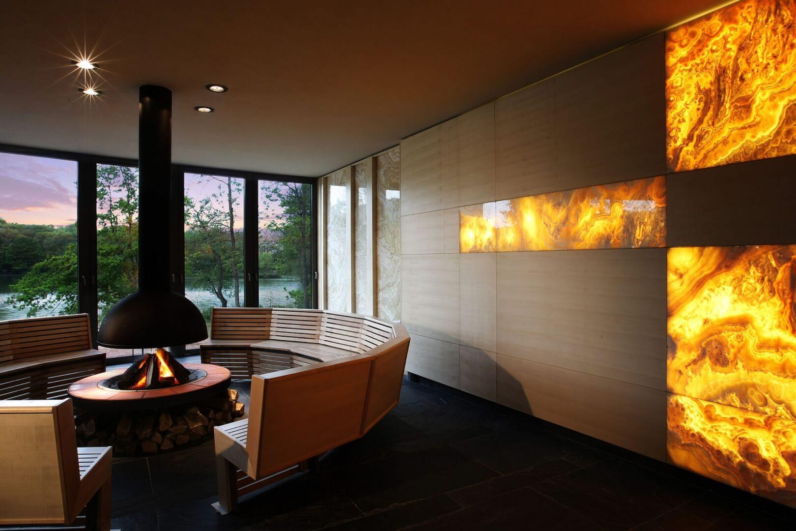 A sárvári Spirit Hotel szauna pihenőtere